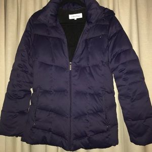Calvin Klein purple down puffer jacket